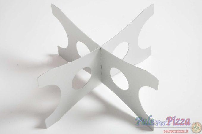 Alzata in alluminio per vassoi h 20 cm