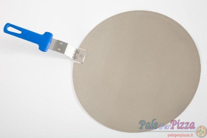 Vassoio alluminio manicato 32 cm con manicatura pressofusa.