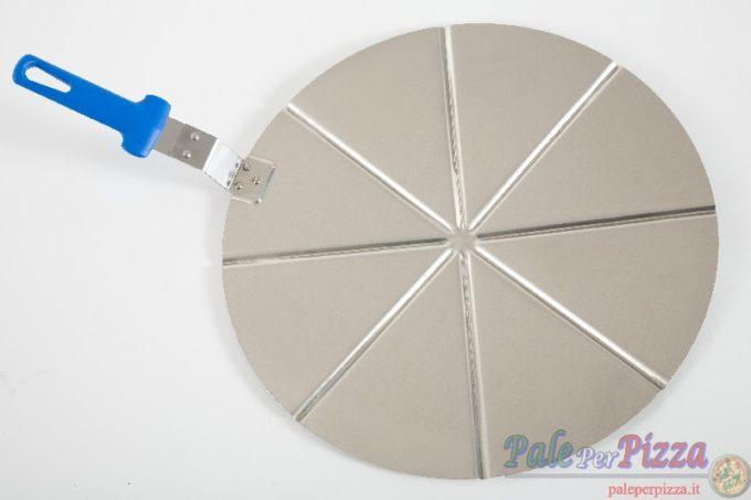 Vassoio alluminio con manicatura pressofusa 8 spicchi 45 cm
