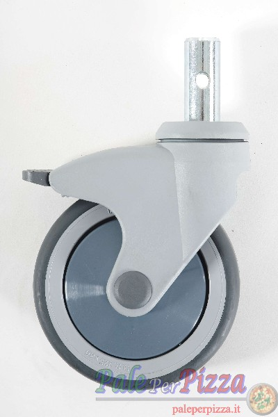 Supplemento 2 ruote frenate diam. 125 mm.