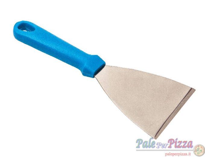 Spatola triangolare lama inox larghezza 10 cm, manico plastica