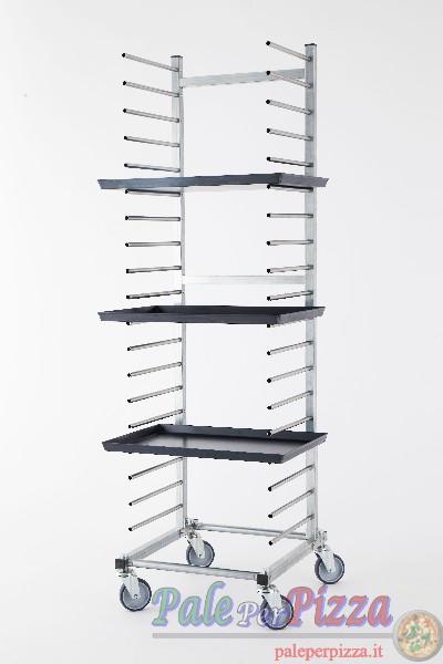 Carrello in acciaio zincato per 20 teglie, distanza tra i piani 8 cm-0