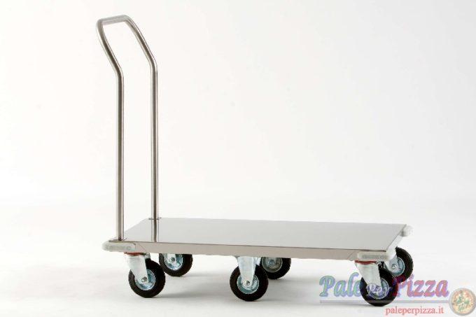 Carrello inox portacasse 57x97x103 cm 6 ruote