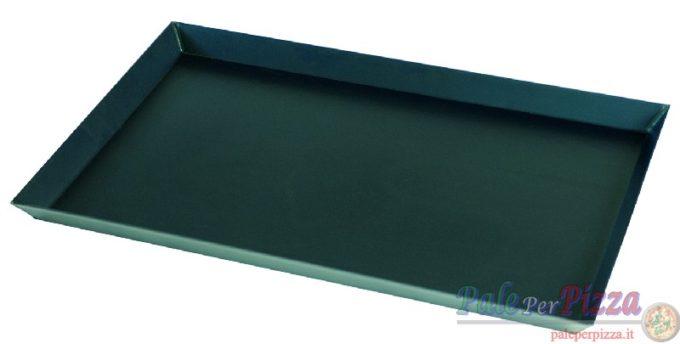 Teglia per pizza rett. in lamiera bluita 40x60x3-0