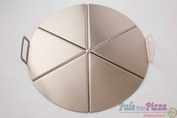 Vassoio alluminio con manicatura pressofusa 6 spicchi 45 cm