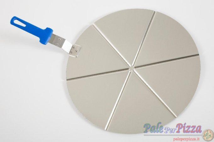 Vassoio alluminio con manicatura pressofusa 6 spicchi 50 cm