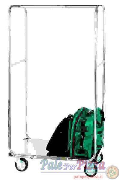 Carrello porta abiti e valigie, struttura inox