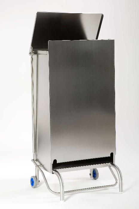 Pattumiera in lamiera inox 45x53x94, capacit 100 litri-0
