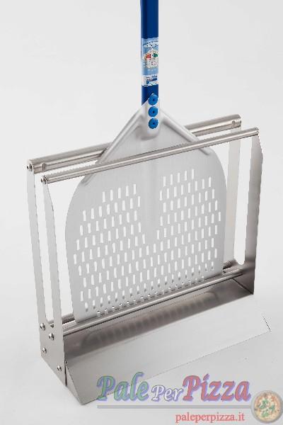 Porta pala da pavimento in acciaio inox per pale fino a 36 cm