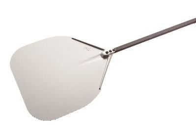 Pelle à pizza en aluminium, arrondie 32 cm manche 120 cm-0